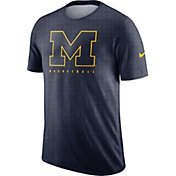 Nike Men's Michigan Wolverines Blue Player Dri-FIT Basketball T-Shirt