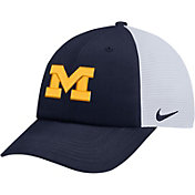 Nike Men's Michigan Wolverines Blue Heritage86 Adjustable Trucker Hat