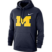 Nike Men's Michigan Wolverines Blue Club Fleece Pullover Hoodie