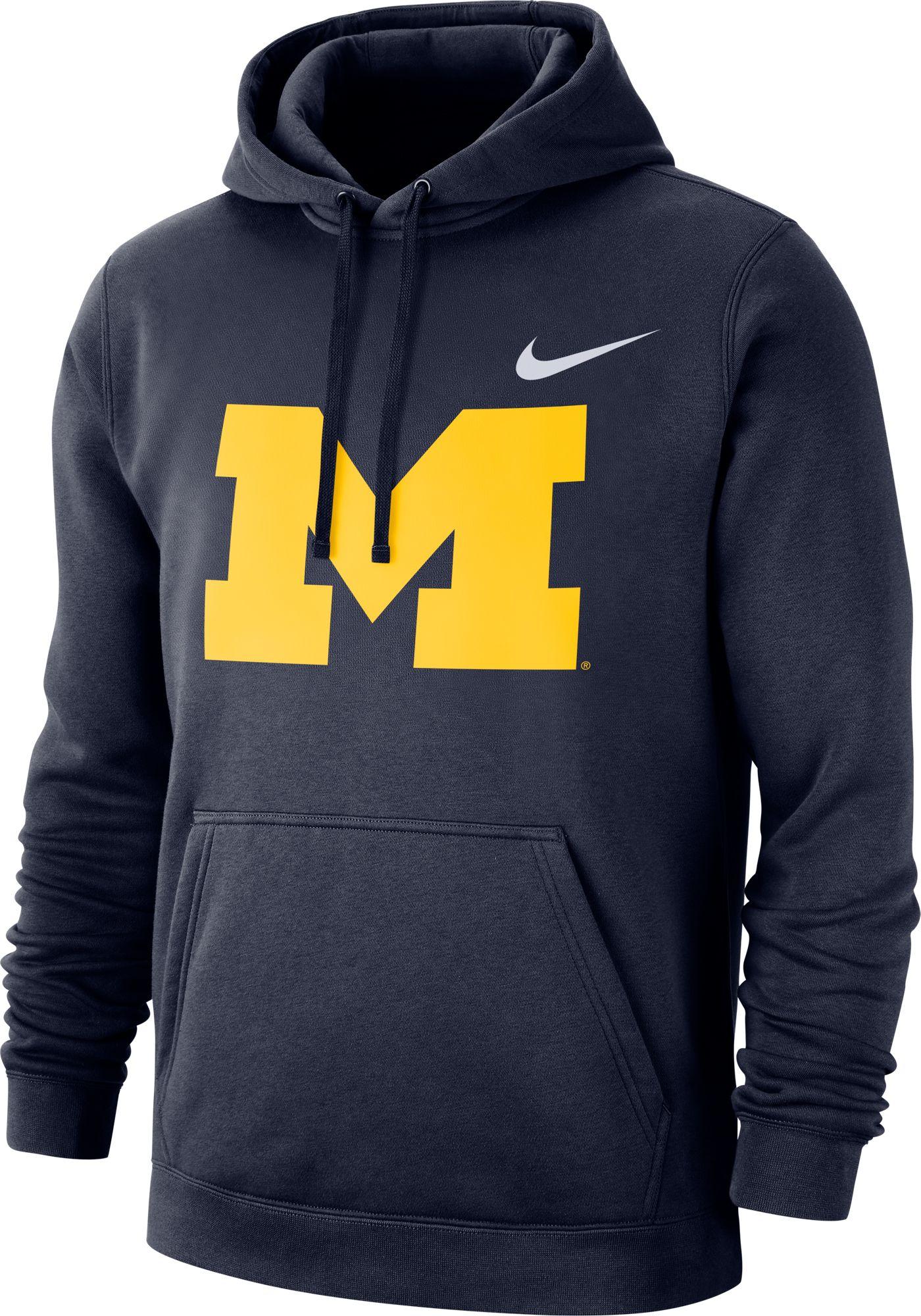 Nike Men's Michigan Wolverines Blue Club Fleece Pullover Hoodie