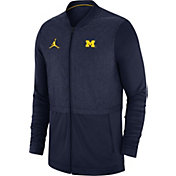 Jordan Men's Michigan Wolverines Blue Elite Hybrid Football Full-Zip Jacket