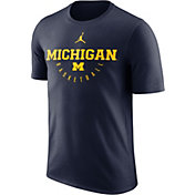 Jordan Men's Michigan Wolverines Blue Key Basketball Legend T-Shirt