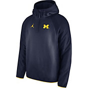 Jordan Men's Michigan Wolverines Blue Hybrid Dri-FIT Quarter-Zip Jacket