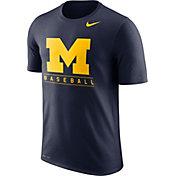 Nike Men's Michigan Wolverines Blue Dri-FIT Legend Baseball T-Shirt