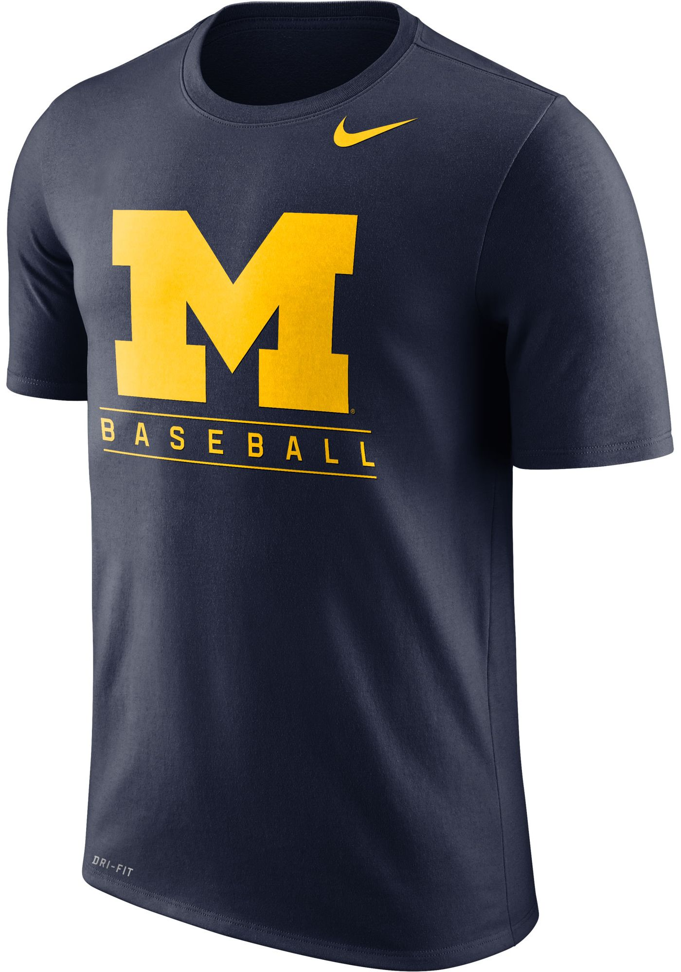 Nike Men's Michigan Wolverines Blue Dri-FIT Legend Baseball T-Shirt