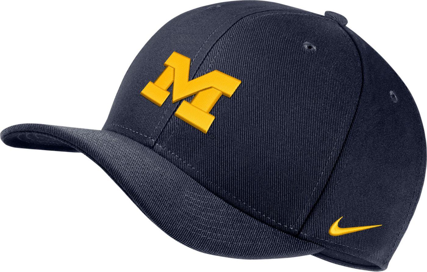 Nike Men's Michigan Wolverines Blue Classic99 Swoosh Flex Hat