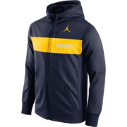 Jordan Men's Michigan Wolverines Blue Therma-FIT Full-Zip Sideline Hoodie
