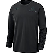 Nike Men's Michigan State Spartans Dri-FIT Modern Long Sleeve Crew Neck Black T-Shirt
