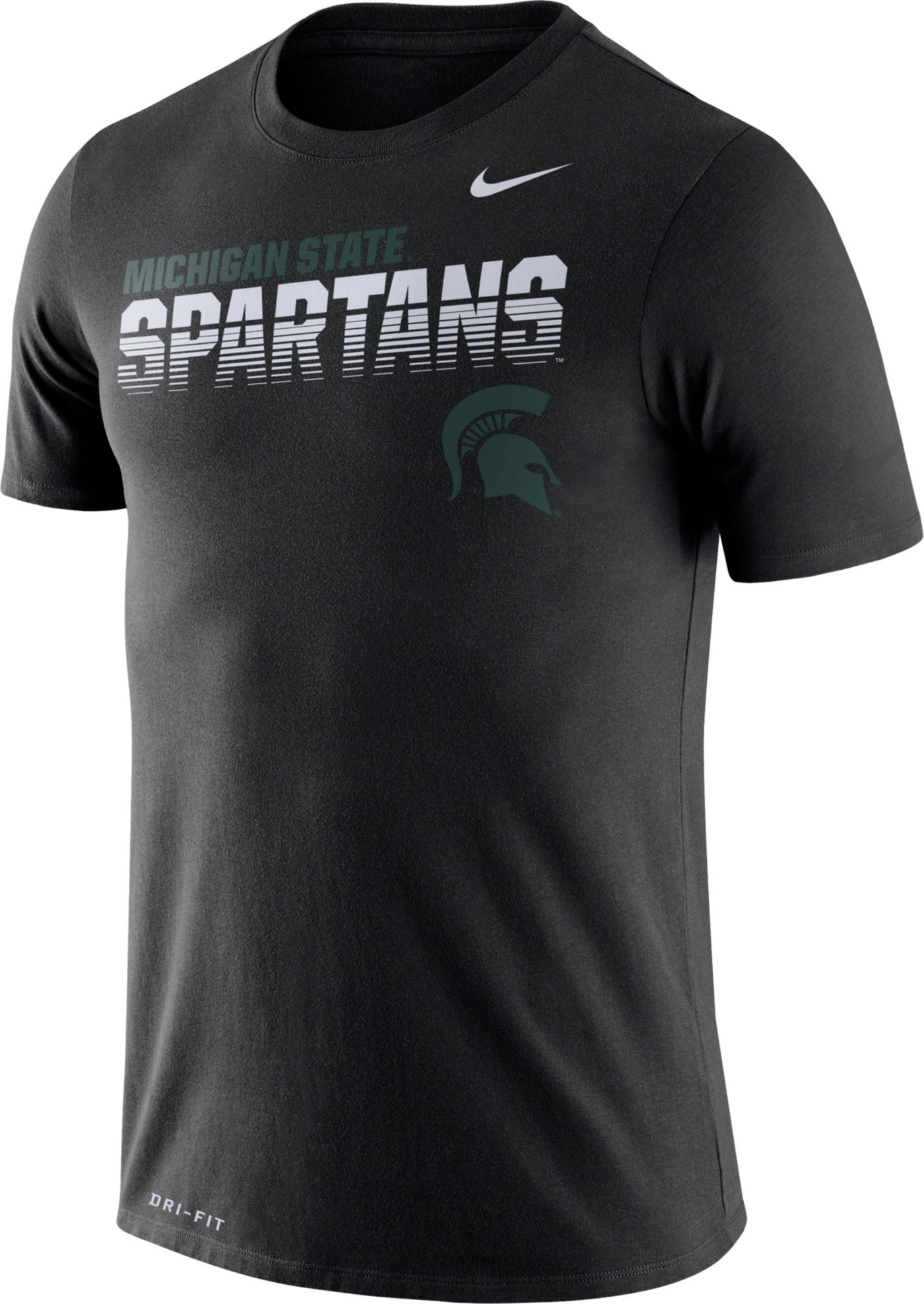 Nike Men's Michigan State Spartans Legend Football Sideline Black T-Shirt