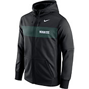 Nike Men's Michigan State Spartans Black Therma-FIT Full-Zip Sideline Hoodie