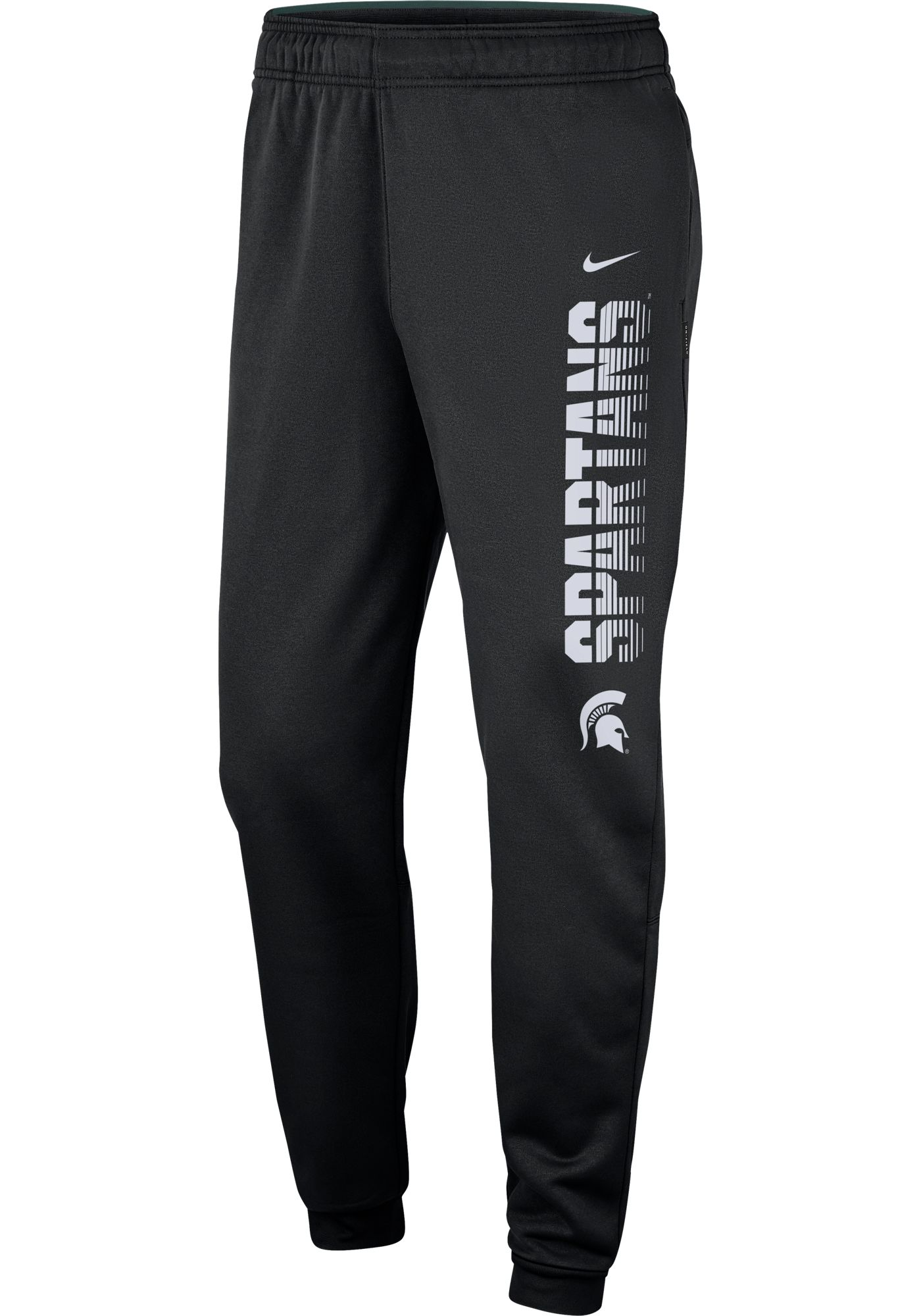 Nike Men's Michigan State Spartans Therma Tapered Black Pants