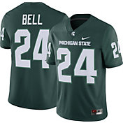 Nike Men's Le'Veon Bell Michigan State Spartans #24 Green Dri-FIT Game Football Jersey