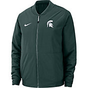 Nike Men's Michigan State Spartans Green Bomber Full-Zip Jacket