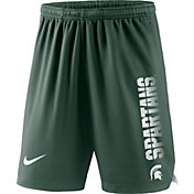 Nike Men's Michigan State Spartans Green Breathe Player Shorts