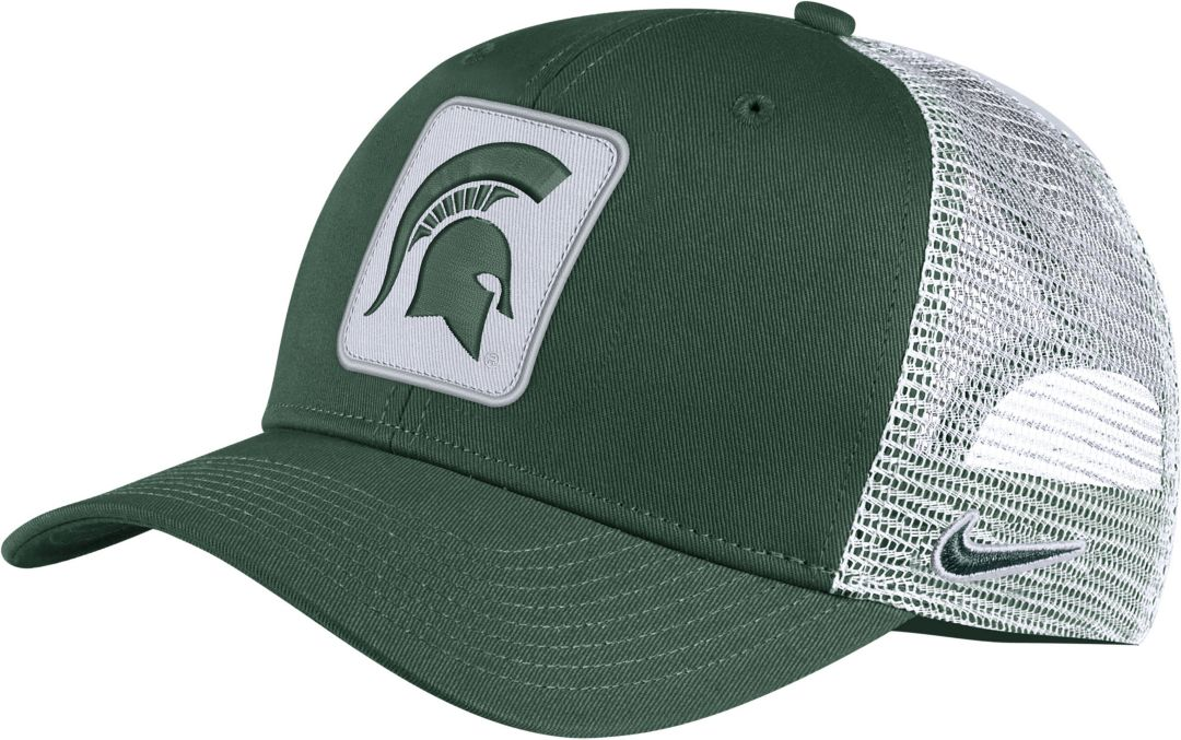54f8dbe4799097 Nike Men's Michigan State Spartans Green Classic99 Trucker Hat ...