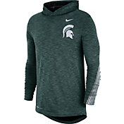 Nike Men's Michigan State Spartans Green Cotton Long Sleeve Hoodie T-Shirt