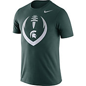 Nike Men's Michigan State Spartans Green Dri-FIT Cotton Football Icon T-Shirt
