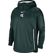 Nike Men's Michigan State Spartans Green Pullover Fly Rush Jacket