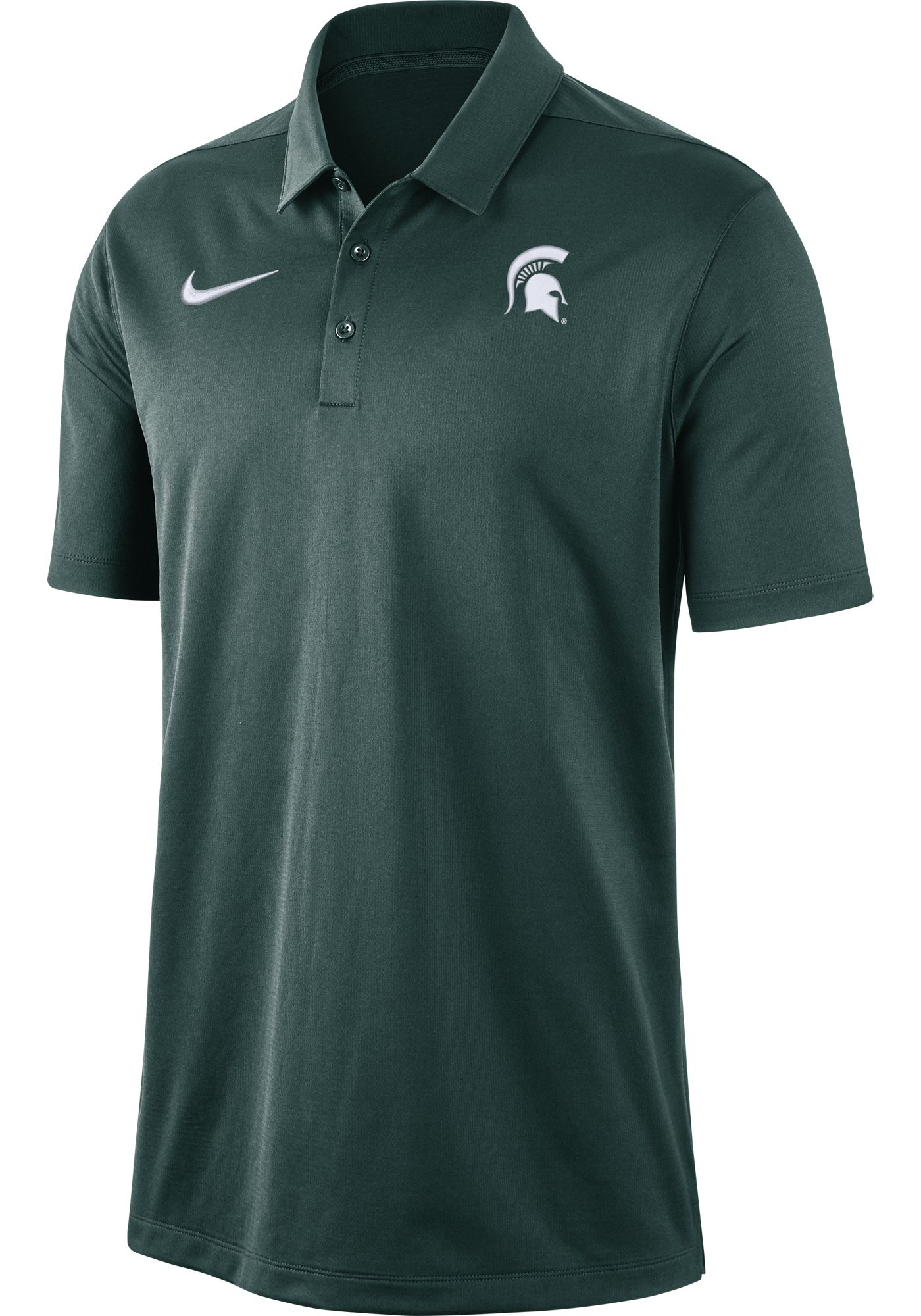 Nike Men's Michigan State Spartans Green Dri-FIT Franchise Polo