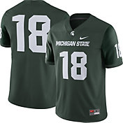Nike Men's Michigan State Spartans #18 Green Game Football Jersey