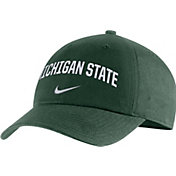 Nike Men's Michigan State Spartans Green Heritage86 Arch Wordmark Hat