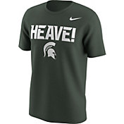 Nike Men's Michigan State Spartans Green 'Heave' Mantra T-Shirt