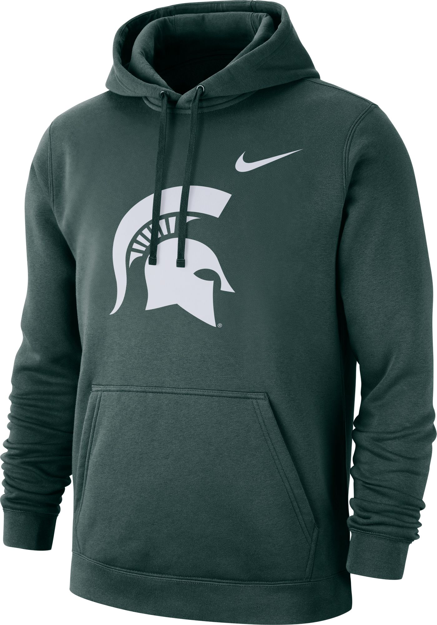 Nike Men's Michigan State Spartans Green Club Fleece Pullover Hoodie