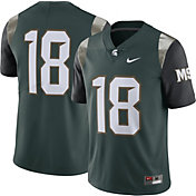 Nike Men's Michigan State Spartans #18 Green Limited Football Jersey
