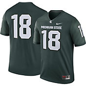 Nike Men's Michigan State Spartans #18 Green Legend Football Jersey