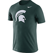 Nike Men's Michigan State Spartans Green Logo Dry Legend T-Shirt