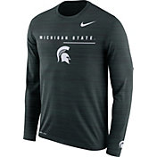 Nike Men's Michigan State Spartans Green Velocity Legend Graphic Long Sleeve T-Shirt