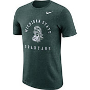 Nike Men's Michigan State Spartans Green Marled Raglan T-Shirt