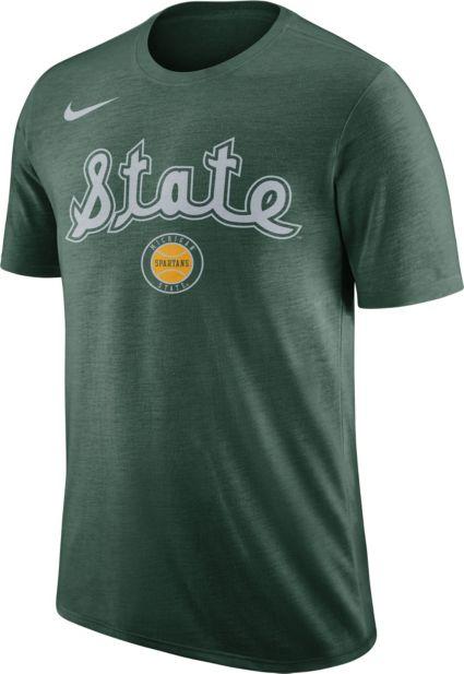 c74b3c739 Nike Men s Michigan State Spartans Green Retro Logo Basketball T-Shirt.  noImageFound