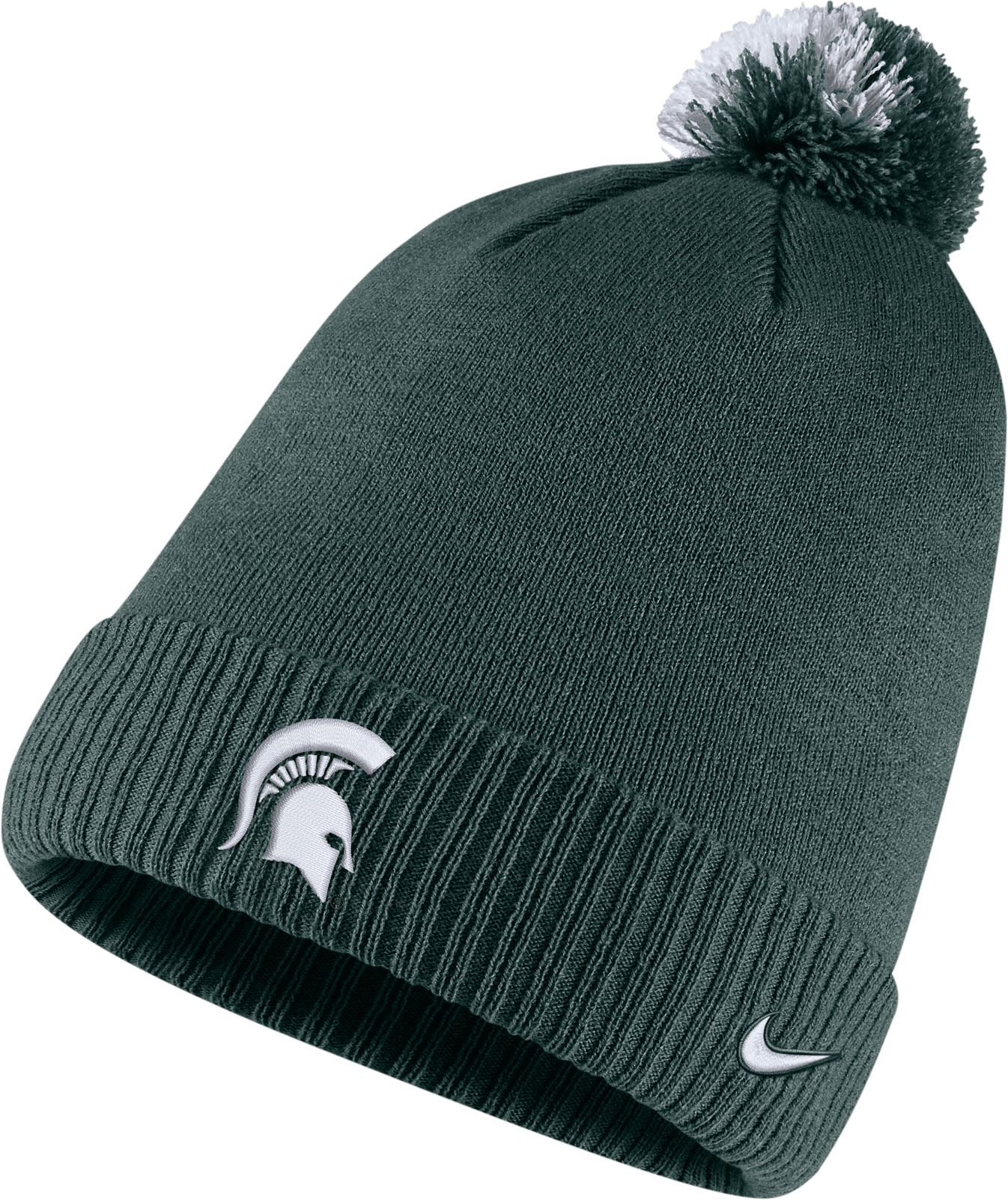 03287938016 ... usa nike mens michigan state spartans green football sideline pom  beanie 75d26 694ad