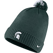Nike Men's Michigan State Spartans Green Football Sideline Pom Beanie
