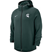 Nike Men's Michigan State Spartans Green Dri-FIT Showtime Full-Zip Basketball Hoodie