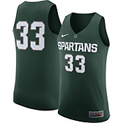 Nike Men's Michigan State Spartans #33 Green Authentic ELITE Basketball Jersey
