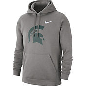 Nike Men's Michigan State Spartans Grey Club Fleece Pullover Hoodie