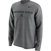 Nike Men's Michigan State Spartans Grey Lockup Long Sleeve Shirt