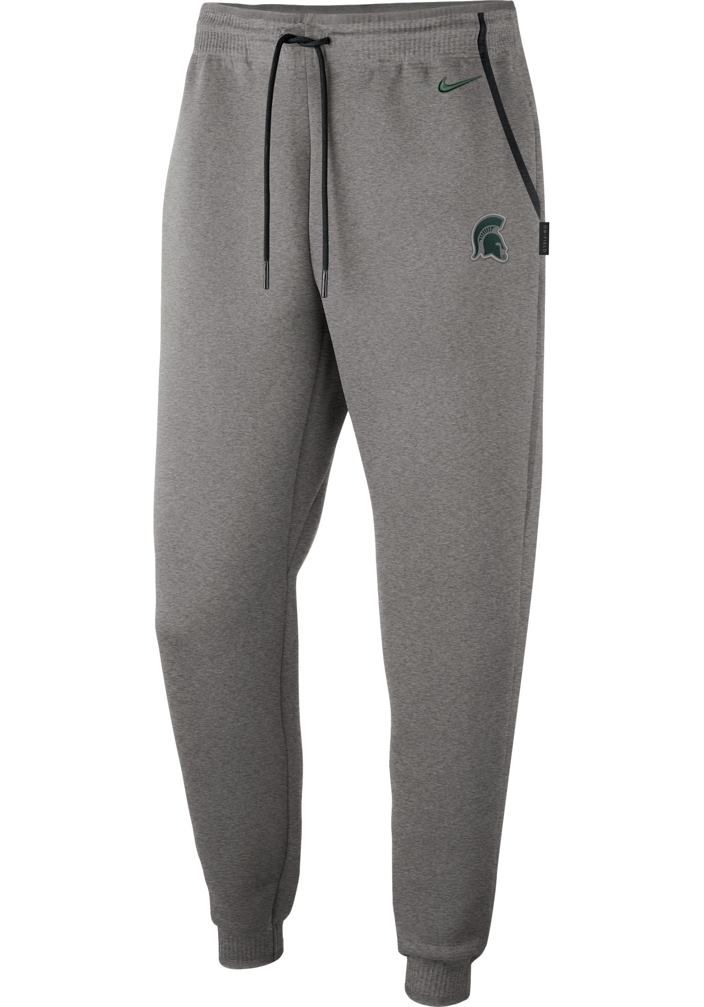 Nike Men's Michigan State Spartans Grey Dri-FIT Football Sideline Repel Pants