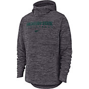 Nike Men's Michigan State Spartans Grey Heathered Dri-FIT Spotlight Pullover Hoodie
