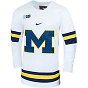 Nike Men's Michigan Wolverines Replica Hockey White Jersey