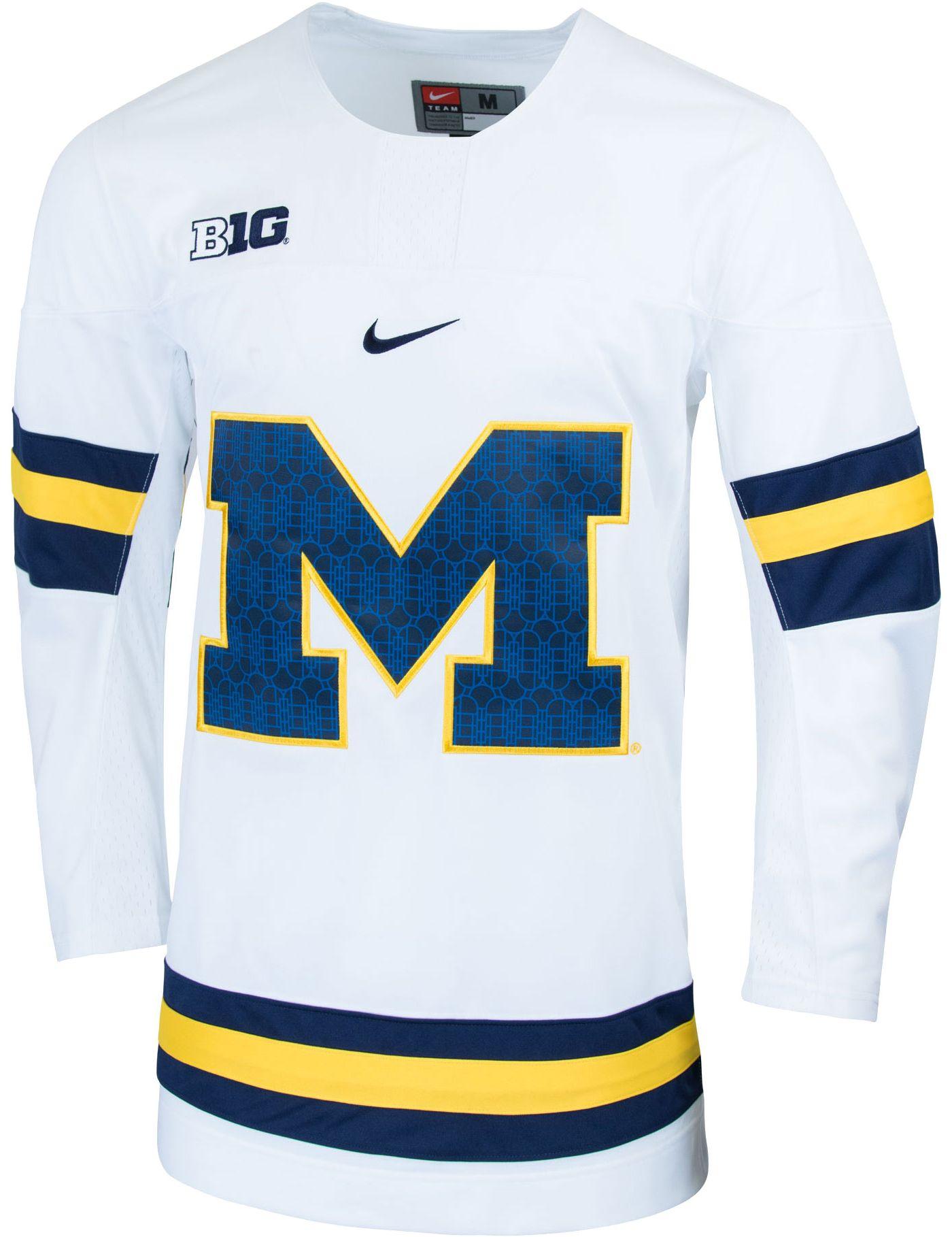 Nike Men's Michigan Wolverines Replica Hockey White Jersey