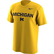 Nike Men's Michigan Wolverines Maize Lockup T-Shirt