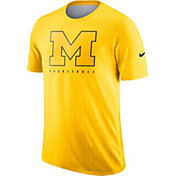 Nike Men's Michigan Wolverines Maize Player Dri-FIT Basketball T-Shirt