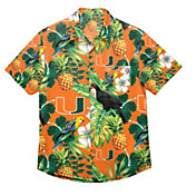 FOCO Men's Miami Hurricanes Green Floral Button-Up Shirt