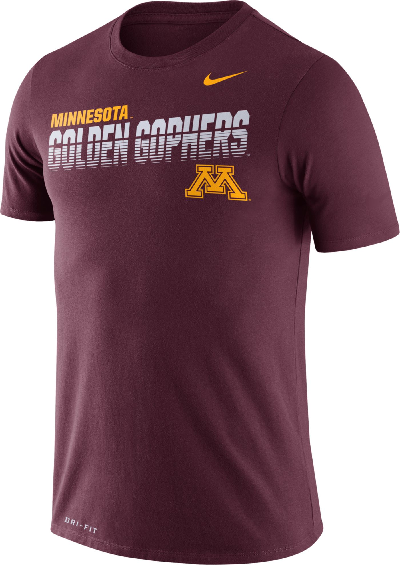 Nike Men's Minnesota Golden Gophers Maroon Legend Football Sideline T-Shirt