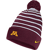 Nike Men's Minnesota Golden Gophers Maroon Football Sideline Cuffed Pom Beanie