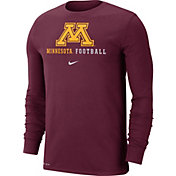 Nike Men's Minnesota Golden Gophers Maroon Football Icon Wordmark Long Sleeve T-Shirt