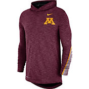 Nike Men's Minnesota Golden Gophers Maroon Cotton Long Sleeve Hoodie T-Shirt